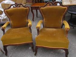 2 db bécsi barokk fotel