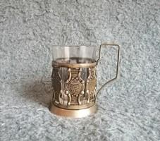 Fém pohártartó pohárral (21/d)