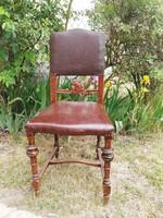 Antik ónémet szék szép faragott mintával