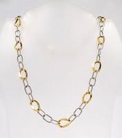 Sárga-fehér arany nyaklánc (ZAL-Au39709)