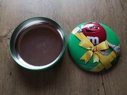 Fémdoboz Holland csokoládés doboz 19 cm átmérő