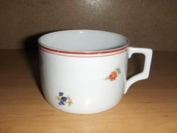 Régi Zsolnay porcelán virágmintás csésze (19/d)