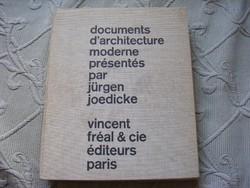 Documents d'architecture moderne présentés par Jürgen Joedicke 1963