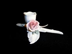 Nagyon szép Ens porcelán gyertyatartó rózsával