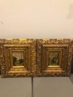 10 ft-ról!Antik Festmény pár!