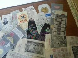 selyemszalag  naptár gyűjtemény.1960-tól