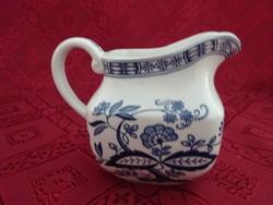 Angol porcelán tejkiöntő, blut onion jelzéssel, magassága 8 cm.