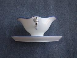 Elegáns Hüttl tivadar porcelán szószós tál
