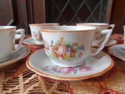 Zsolnay antik kávés csészék 5 db