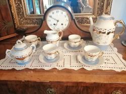 4 személyes teás kávés készlet kanna, kiöntő, cukortartó