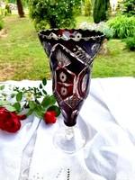 Kristály talpas váza