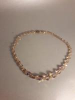 Vintage ékszer Preciosa Jablonec kristály nyaklánc