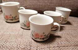 Angol kőporcelán teás/kávés bögrék tejkiöntővel és cukortartóval, hibátlan állapotban!