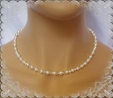 Esküvői, menyasszonyi nyaklánc, swarovszki kristály SL-ESW01