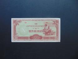10 rupia 1940 Japán megszállási pénz