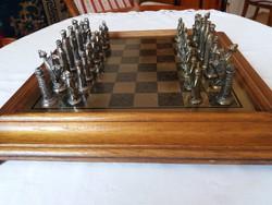 Olasz sakk készlet fémből