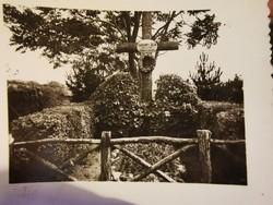 Gárdonyi Géza sírja, kB 1935?kis méretű fotó.. Eger