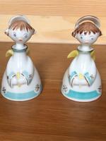 Ritka, különleges festésű Hollóházi angyalkák