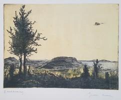 Gross Arnold - Badacsony 29 x 39 cm fakszimile