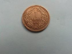 1 Krajcár 1892 kb fiumei címer