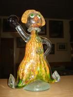 Muránói bohóc 25cm, üveg