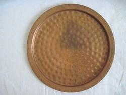 Régi réz kínáló tálca 28 cm