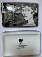 Hollóházi porcelán - Szász Endre pillangós nagy bonbonier