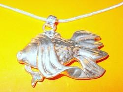 Horgász Hal 925 ezüst - fehérarany uniszex Nyaklánc