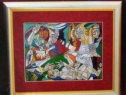 Józsa János festőművész Babalátogatás