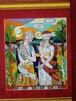 Józsa János festőművész Justitia és a művészet Múzsája