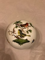 Herendi nagyméretű Rotschild mintás porcelán bonbonier-hibátlan állapotban!