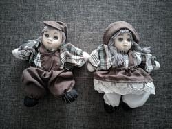 Gyönyörű retro porcelán baba pár