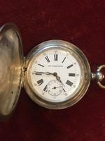 Svájci ezüst dupla tokos zsebóra 1847 előtt készült orosz exportra ( cári megrendelés ? ) 23 köves !
