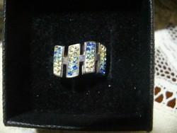 Ezüst kék köves szépséges gyűrű
