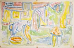 Németh Miklós - 30 x 49 cm tempera, papír