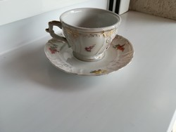 Kávés csésze és tányér egyben Meissner ( Meisseni porcelán termék)