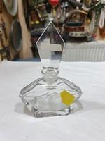 Régi hámozott kristály parfümös üveg