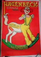 HAGENBECK cirkusz NSZK RIVELS Fővárosi Nagycirkusz plakát