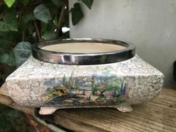 Vintage Angol porcelán SANDLAND HANLEY STAFFORDAHIRE Tál