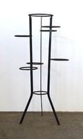 1A813 Retró design kovácsoltvas csavart vas virágtartó állvány 93.5 cm