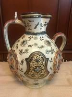 Fischer J. porcelán váza, Budapest jelzéssel