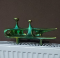 Zsolnay eozin ritka török jános cső figura