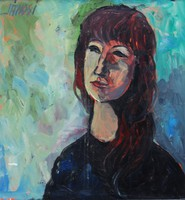 Jánosi Sándor (1927-1982): Hosszú hajú lány