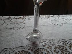 Üveg gyertya tartó csodaszép  25 cm