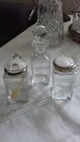 Asztali fűszertartók,üveg,porcelán