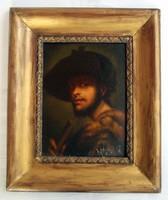 Reneszánsz stílusú férfi portré - olvashatatlan jelzéssel