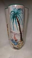 Giuseppe Barile Albisola olasz festett kerámia váza, 1950-es évekből.