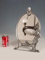 Szecessziós asztali tükör auloson játszó női alakkal