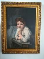 Rembrandt: Lány az ablakban másolat festmény