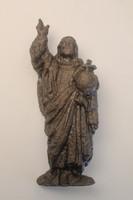 Retro öntött vas vallási témájú szobor, falidísz